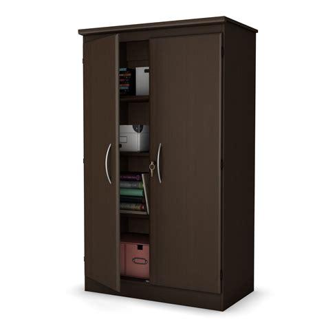 south shore morgan narrow storage cabinet royal cherry