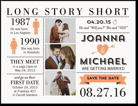 long story short save  date postcard wedding saving