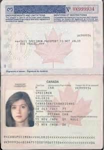 Fake Canadian Passport Template