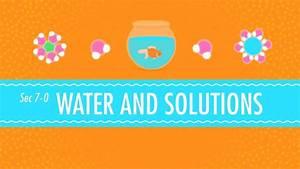 Water  U0026 Solutions