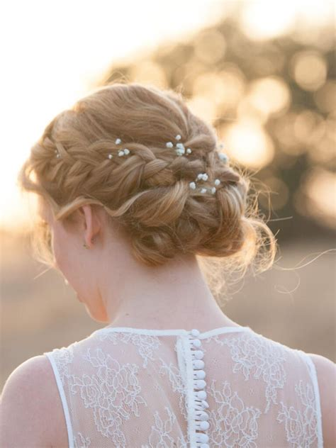 braided updo ideas  flowers