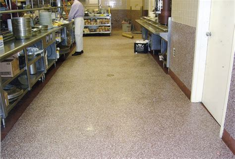 floor materials for commercial kitchens jetrock flooring replacement products