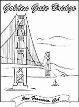 Pages Bridge Coloring Landmarks Gate Golden Crayola Printable Famous Drawing Sheets Colouring Francisco San Construction Books sketch template