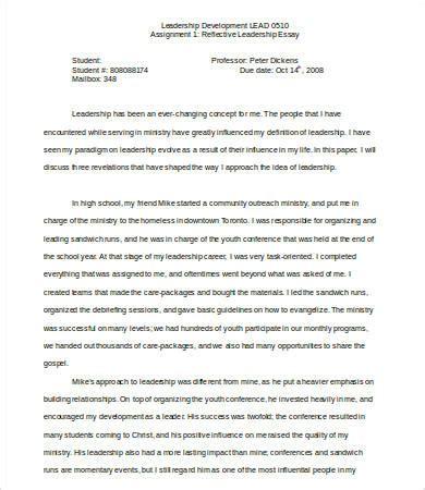 leadership essay   samples examples format
