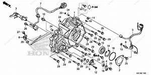Honda Atv 2015 Oem Parts Diagram For Rear Crankcase Cover