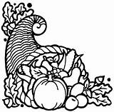 Cornucopia Thanksgiving Horn Clip Turkey Coloring Clipart Printable Pages Plenty Basket Symbols Painting Fruit Symbol Graphics Google sketch template