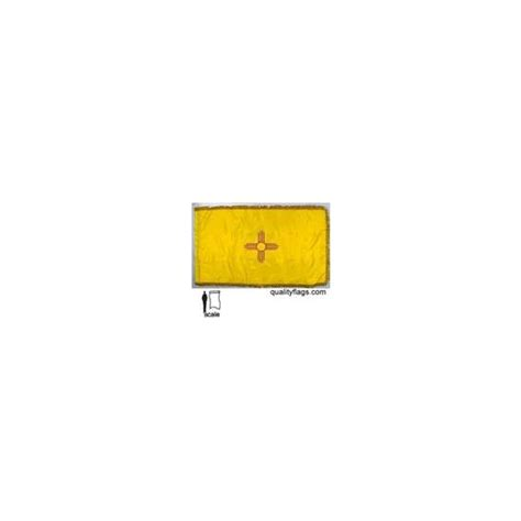 New Mexico State Flag Frg w/pole hem 3x5' Nyl | Quality Flags