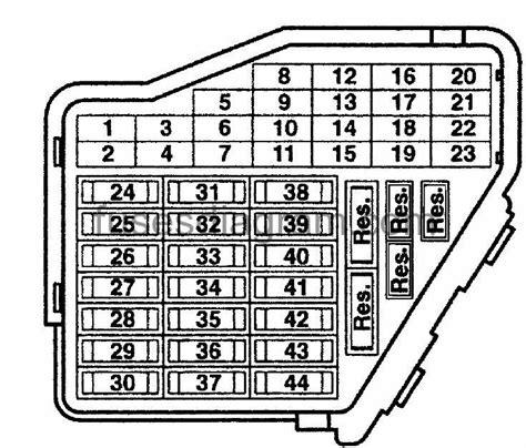 2002 Audi A6 Fuse Box Diagram by Fuse Box Audi A6 C5
