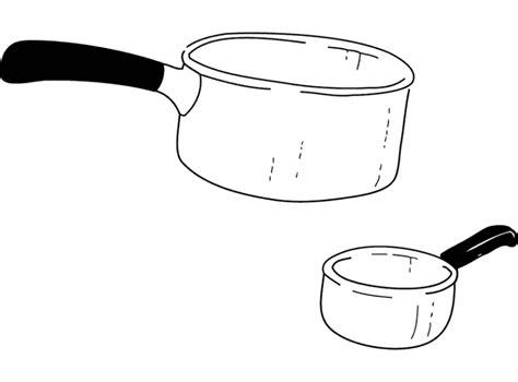 coloriage de cuisine dessin casserole