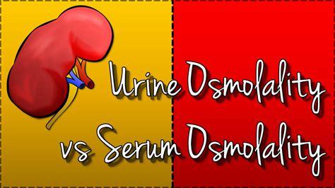 urine osmolality  serum osmolality hyponatraemia youtube