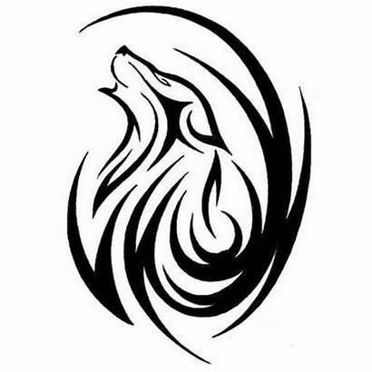 Wolf Tattoo Designs Tribal Head Stencil Howling