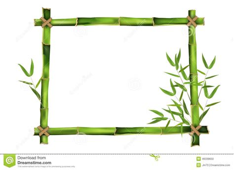 cadre en bambou pour votre message illustration de vecteur image 46339650