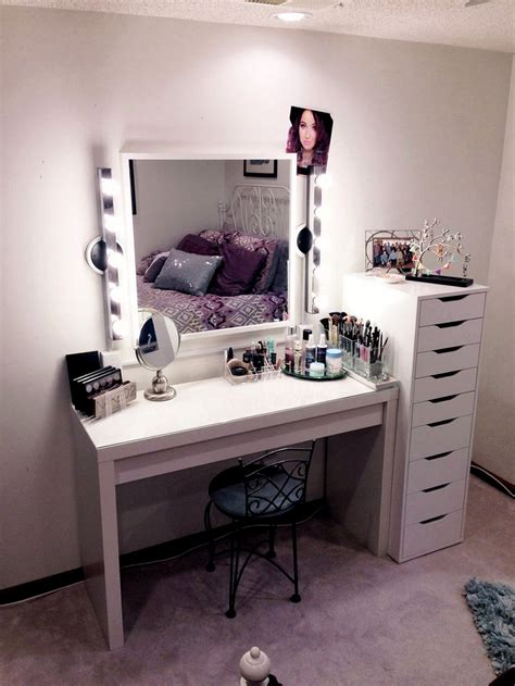 makeup vanity with lights ikea diy makeup vanity brilliant setup for your room