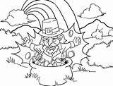 Leprechaun Coloring Rainbow Pot Pages Gold Printable Printables Spd Sheet Clipart Paratrooper Colored Getcolorings Popular Coloringhome Clip sketch template
