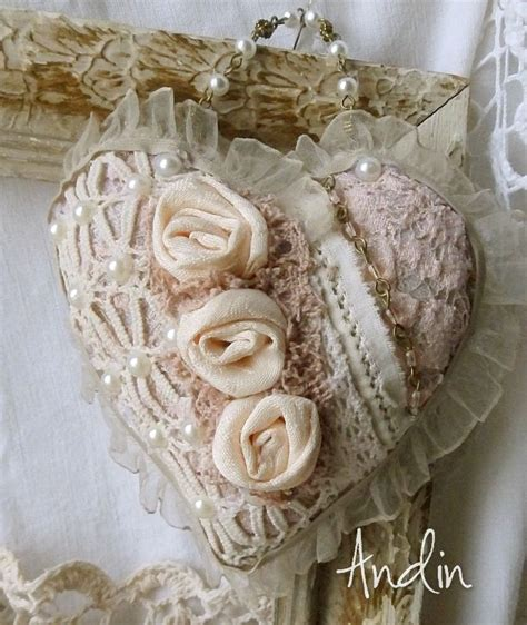 shabby fabric hearts srd 237 čko ve stylu shabby chic heart pinterest shabby craft and fabric hearts