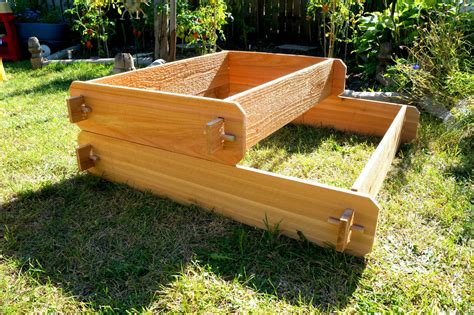 garden raised bed planter flower box cedar vegetable kit