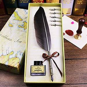 Feather Pen Set With Ink, Writing Luxury Writing Antique ...