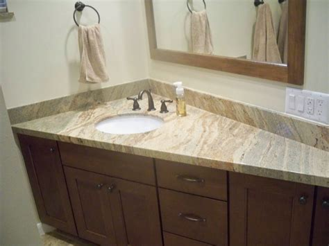 interesting bathroom countertop granite tile picture