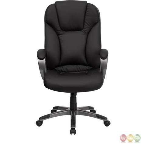 high back black leather executive office chair bt 9066 bk gg