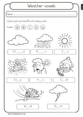 image result for weather printables 1st grade weather