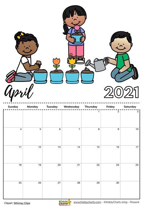 Download Printable Childrens Calendar 2021  Gif