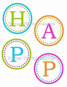 6 best images of happy birthday banner printable free With happy birthday letter banner