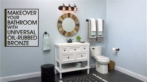Bathrooms With Bronze Fixtures by Bathroom Fixture Makeover With Universal Rubbed Bronze