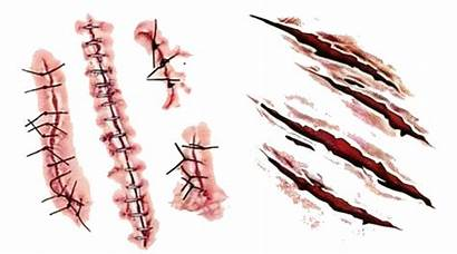 Scar Transparent Blood Wound Realistic Scars Skin