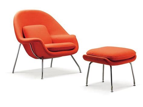 orange womb chair ottoman replica zac nos