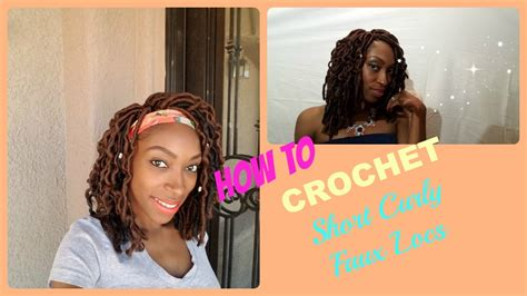 Short Curly Faux Locs-crochet Janet Collection