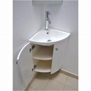 Meuble Vasque Angle : meuble d 39 angle vasque wc ~ Teatrodelosmanantiales.com Idées de Décoration