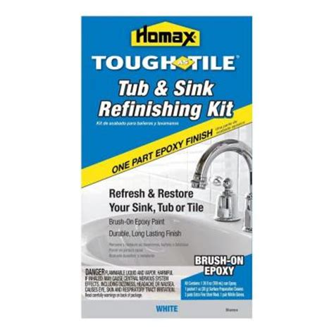homax tub tile and sink refinishing kit homax 26 oz white tough as tile one part epoxy brush on