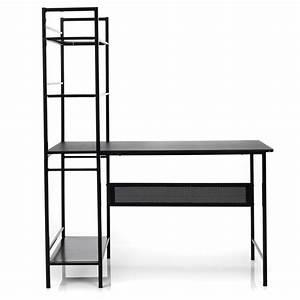 Etagere Pour Bureau : bureau tag re en acier noir clary les tag res de chambre d 39 enfants les meubles pour ~ Teatrodelosmanantiales.com Idées de Décoration