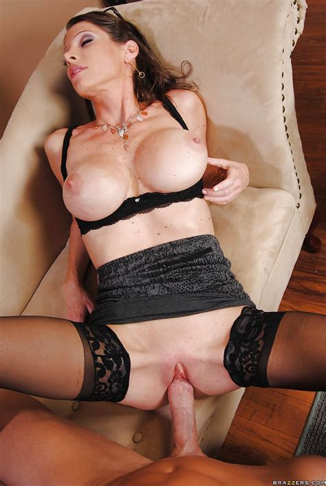 Busty Milf In Stockings Angel Strips In The Office To Fuck A Huge Dick