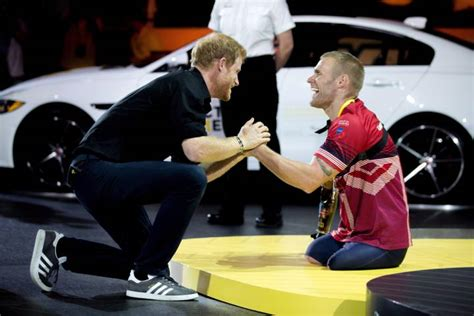 Prince Harry Presents Triple Amputee Mark Ormrod With Silver Medal At Invictus Games National
