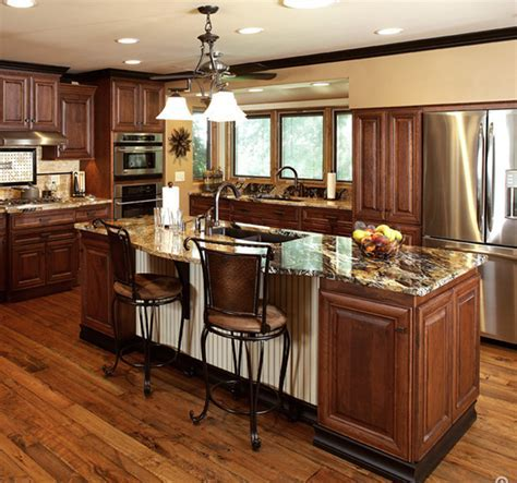 Matrix Cabinets : Brown Zebra Wood Flooring Kitchen with