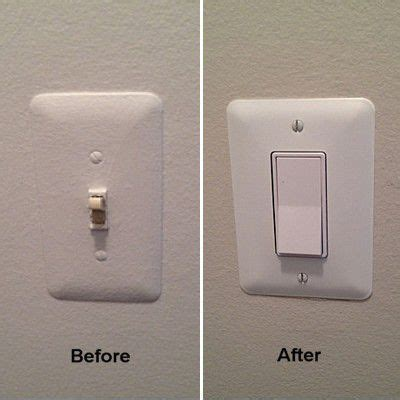 rocker light switch replacing a toggle light switch with a rocker switch