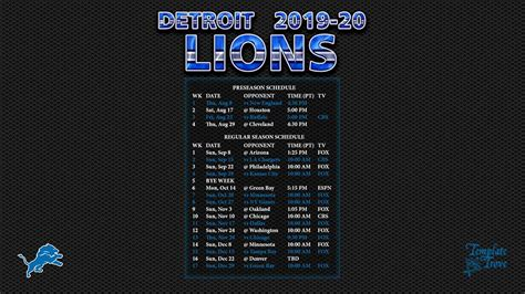 detroit lions wallpaper schedule