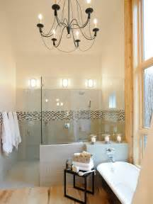13 dreamy bathroom lighting ideas bathroom ideas designs hgtv - Bathroom Chandelier Lighting Ideas