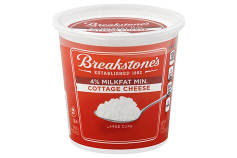 cheese tub breakstone s large curd 4 milkfat min cottage cheese 24