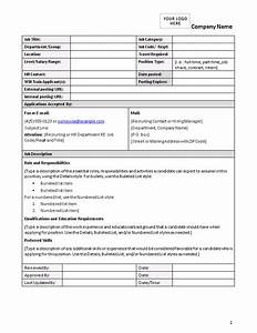 blank and general officecom With detailed job description template