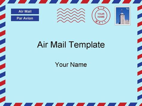 airmail letter template