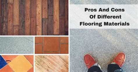 pros  cons   flooring materials