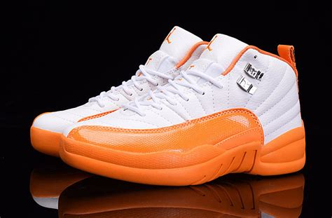 Orange and Black Air Jordans 12 2016