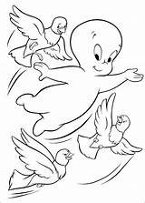 Casper Coloring Pages Ghost Fun sketch template