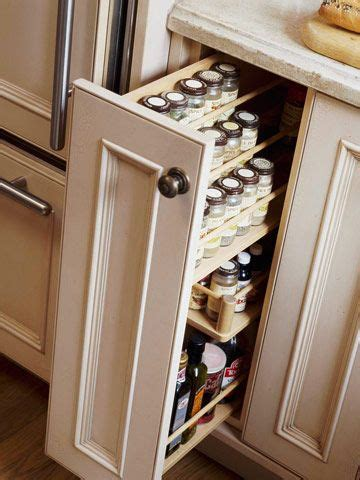 slide out spice racks for kitchen cabinets kitchen organization storage tips home 9767