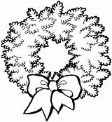 Coloring Christmas Wreath Pages Wreaths Google Printable Colouring Ornament Clip Holidays Clipart Card sketch template
