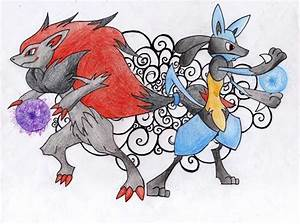 Zoroark and Lucario by mariot4747 on DeviantArt