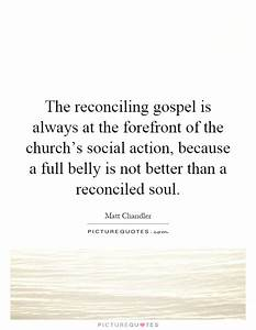The reconciling gospel is always at the forefront of the ...