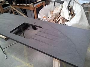 Minardoises plan de travail cuisine avec evier ardoise for Plan de travail cuisine avec evier integre